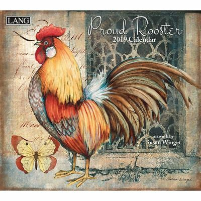 2019 Proud Rooster Wall Calendar, Susan Winget by Lang Companies