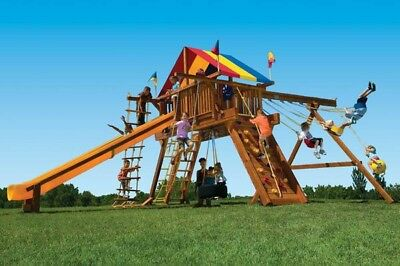 Rainbow King Kong Castle Swing Set 1 099 00 Picclick