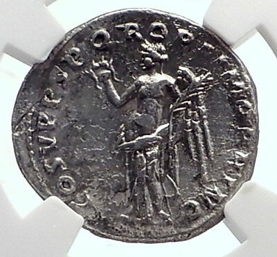 TRAJAN 103AD Rome Authentic Ancient Silver Genuine Roman Coin VICTORY NGC i72072