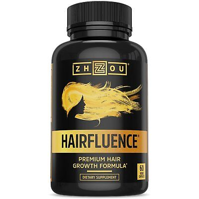 HAIRFLUENCE by Zhou Nutrition (60 Veggie Capsules) - Hair Growth Formula For ...