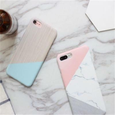 Marble Granite Stone Pattern Hard Phone Back Case Cover For iPhone 6 6s 7 D