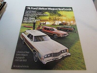 Vintage Car Automobile Sales Auto Brochure 1974 Ford Station Wagon Yearbook