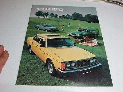 Vintage Car Automobile Sales Auto Brochure 1980 VOLVO