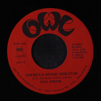 PAUL ADKINS: There's A Brand New Star / Hey There Lonely Girl 45 (Elvis tribute
