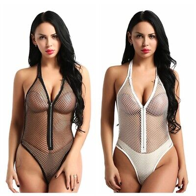 Women Sexy/Sissy Lingerie Nightwear Sleepwear Lingerie See Through Fishnet Thong
