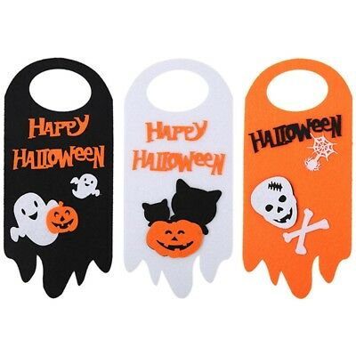 Happy Halloween Wall Door Garden Pumpkin Ghost Hanging Decor Zone Sign Supplies