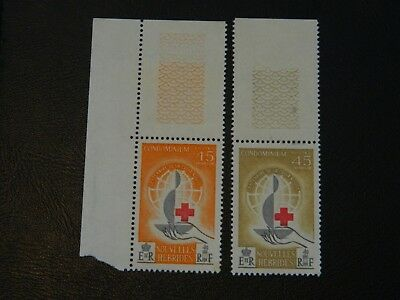 New Hebrides Stamps SG F108/F109 set of 2 issued 1963 MNH Red Cross Centenary.