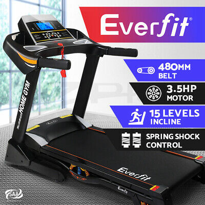 Everfit 480mm Belt Electric Auto Incline Treadmill Gym Exercise Machine Fitness
