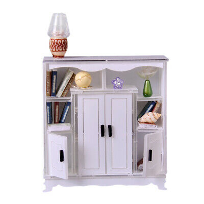 1/12 Dollhouse Miniature Furniture Multifunctional Cabinet Model Any Rooms