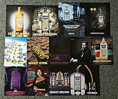 ABSOLUT Vodka Ad Page Collection ~ Lot of 69 ads- Spike Lee, Lenny Kravitz, more