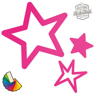 20 Star Car & Wall Stickers / Decals | Choose from 30 Colours S5