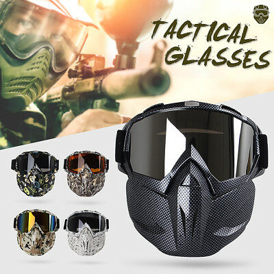 Full Face Mask Hunting CS War Game Field Tactical Airsoft Paintball PC Lens H022