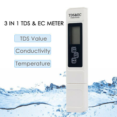 3 in1 Digital TDS EC Water Quality Temperature Meter Tester Filter Pen Stick UK