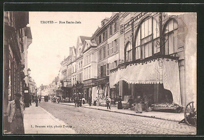 CPA Troyes, Rue Emile-Zola