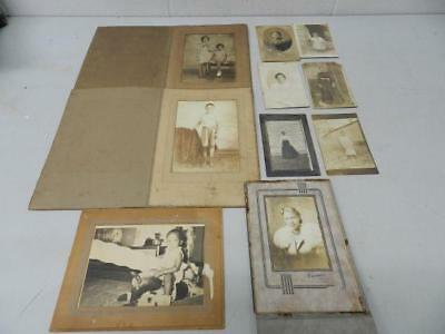 Lot of 10 Vintage Black & White Photos of African American Women, Children