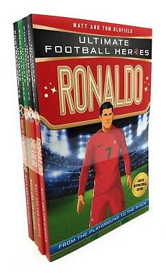 Ultimate Football Heroes 4 Books Set Collection Pack Kane, Ronaldo, Road to the