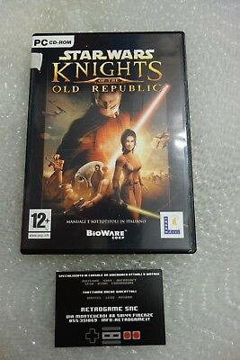 STAR WARS KNIGHT of THE OLD REPUBBLIC KOTOR PC ORGINALE ver ITA