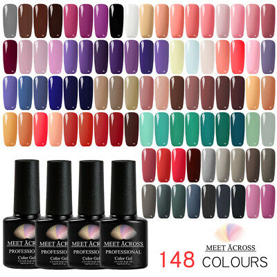 New 148Colors Gel Nail Base/Top Coat Nail Polish Soak-off Manicure Varnish Tips