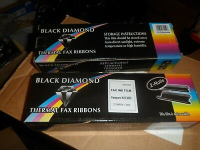 4x Black Diamond Fax tape thermal 30m for Panasonic ,KX-FA52E,KX-FA52A,KX-FA52X