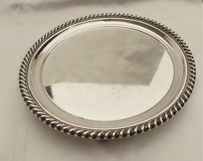 Fine Georgian Old Sheffield Plate Silver 8 Inch Calling Card Or Small Wine Tray