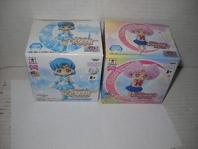 Sailor Moon Crystal Atsumete Figure for Girls 2 figure lot MIB Mercury Chibi Usa