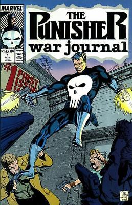 Punisher War Journal 1 Jim Lee Carl Potts Frank Castle First Print 1988 NM