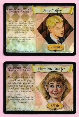 [0318] Harry Potter Base Set Two FOIL Cards Draco Malfoy + Hermione Granger