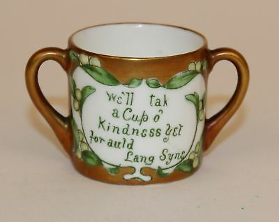 Adderly Miniature Handled Cup Best Wishes For Xmas