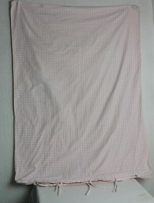Pottery Barn Kids Toddler / Crib Duvet Cover Pink Gingham 100% Cotton