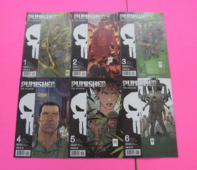 Punisher The Platoon # 1 - 6 Comic Complete Series Marvel Max 2018 Ennis Parlov