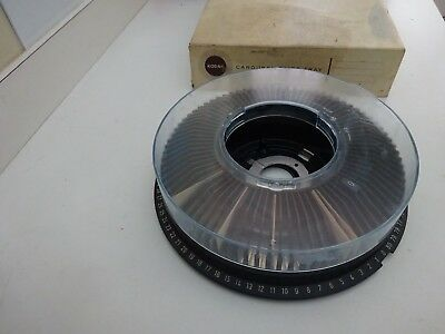Vintage Kodak Carousel 35Mm Slide Tray In Original Box--Holds 80 Slides
