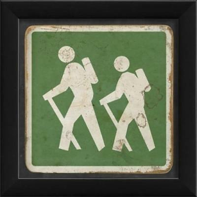 The Artwork Factory 17942 Hiking Sign Green Ready to Hang Artwork