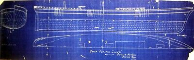 "Vintage Clippership Ship Flying Cloud 1851 Plan 11"" x 35"" (240)"