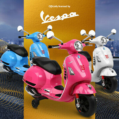 VESPA Kids Ride-On Motorcycle Motorbike Scooter Car Electric Toy Battery