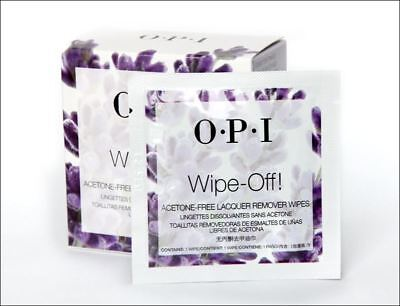 10 X OPI Wipe Off! ACETONE FREE Lacquer Remover Wipes **BEST PRICE**