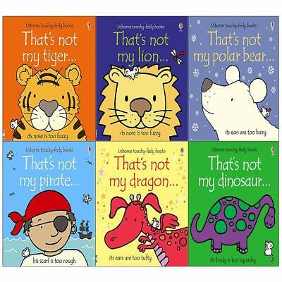 Thats Not My touchy feely series 3 and 4 Fiona Watt Collection 6 Books Set NEW