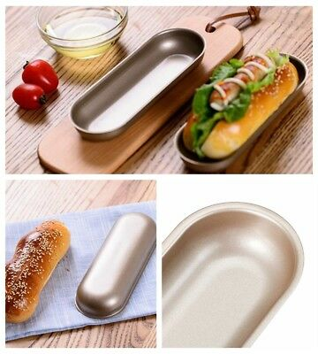 Bun Pan Hotdog Hot Dog Bread Mould Non Stick Bakeware Oval Cake Mold 195*75*25mm