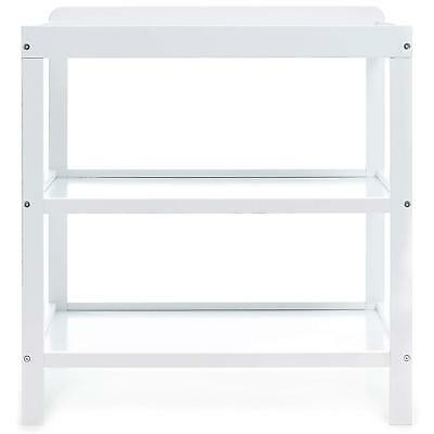 NEW Obaby Modern Design Open Baby Changing Table Unit with 2 Shelves - White