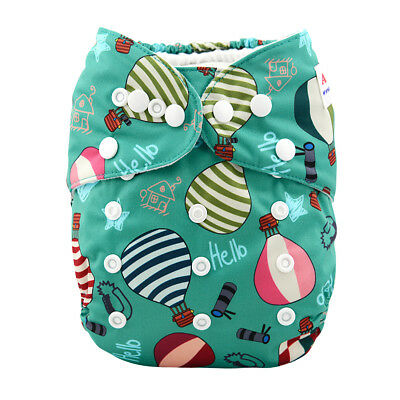 ALVABABY All In One Diaper With Pocket Sewn-in 4-layer Bamboo& Microfiber Insert