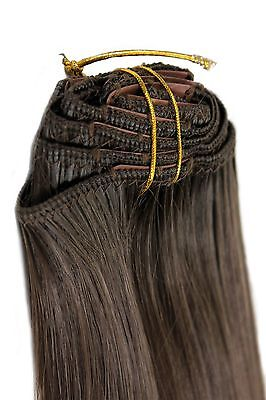 Clip-In Achtteilig Set Completo Extensions Capelli Marrone 40 cm EX03-8