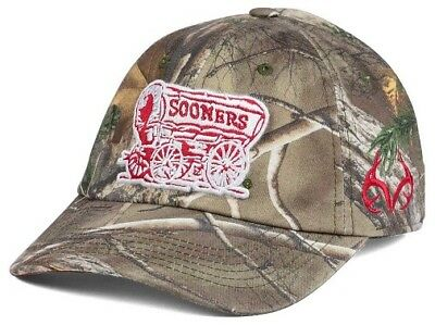 on sale b071f 7c103 Oklahoma Sooners NCAA TOW Real Tree Camo Stretch Fitted Hat