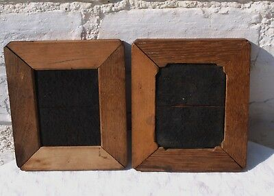 2 OLD WOODEN CONTACT PRINT PICTURE PHOTO FRAMES 1of3