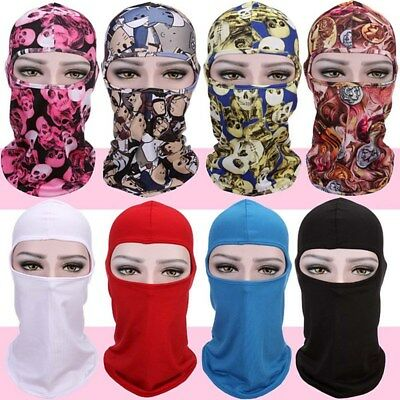 Motorcycle Full Face Mask Lycra Balaclava Ski Sun UV Neck Outdoor Protection