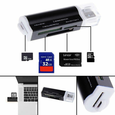 All in One all in 1 USB Memory Card Reader Adapter for Micro SD MMC SDHC TF M2 Z