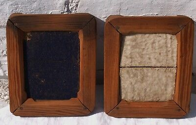 2 OLD WOODEN CONTACT PRINT PICTURE PHOTO FRAMES 3of3