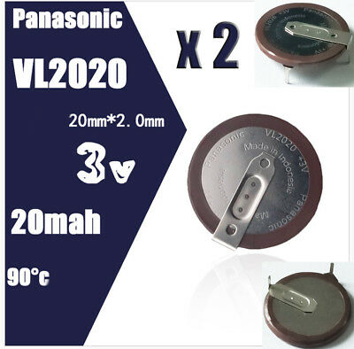 2pcs New Battery For VL2020 BMW Key Remote Fob Rechargeable PANASONIC 90 degree