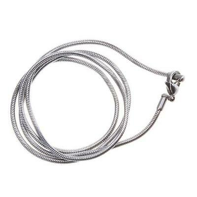 """Stainless Steel 2mm Wide Mens Womens 22"""" inch Long Chain Silver Necklace Hot"""
