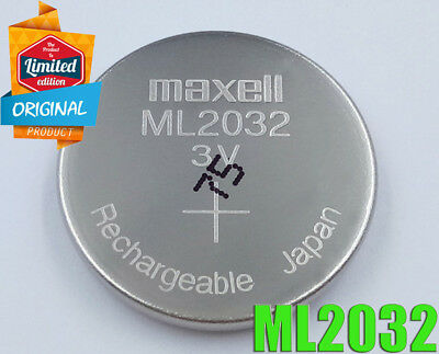 1x NEW MAXELL ML2032 2032 RECHARGEABLE 3V COIN CEEL BATTERY 65MAH,20x3.2MM