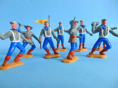 COLLECTION OF EIGHT vintage TIMPO TOYS A C W  Confederate soldier figures