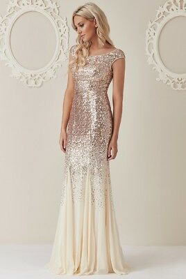 5d2129c144a8 Damenmode Goddiva Stephanie Pratt Sequin Flapper Maxi Wedding Eve Prom  Party Dress